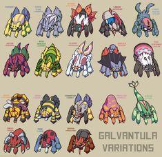 Galvantula Variations by Ink--It.deviantart.com on @DeviantArt