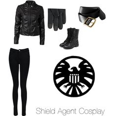 I'm in!!!!!! Im in S.H.I.E.L.D!!!I'm so happy!!! The secret skill was a black flip while throwing a knife! And I got it! This is my outfit!