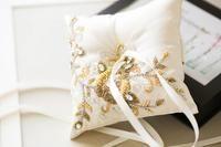 Beaded Wedding Ring Pillow in Ivory - Style Traditional Wedding Rings, Tiffany Wedding Rings, Ring Bearer Pillows, Lace Ring, Ring Pillow Wedding, Cushion Ring, Swarovski Stones, Jewellery Storage, Ivory
