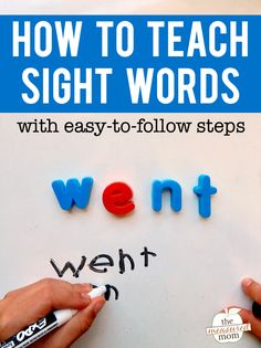 to teach sight words Wondering how to teach sight words? Try this simple, step-by-step process. It works!Wondering how to teach sight words? Try this simple, step-by-step process. It works! Pre K Sight Words, Preschool Sight Words, Teaching Sight Words, Sight Word Practice, Sight Word Games, Sight Word Activities, High Frequency Words Kindergarten, Spelling Practice, Guided Practice