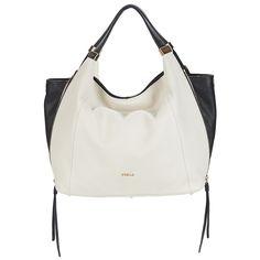 bd7b0f2fff4d Furla LIZ Shoulder Bag White   Black Furla