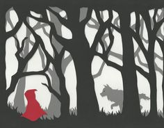 Paper Cut Silhouette, Lil Red Riding Hood I wonder if I can do this...?