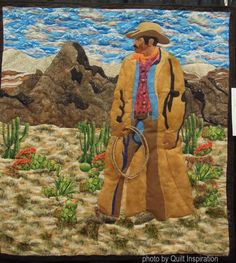 Code of the West by Roberta Simpkins.  2016 AZQG show. Photo by Quilt Inspiration.