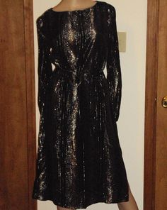 Vintage Nancy Bracoloni Black Sheer w/ Metallic by outoftheattic2u