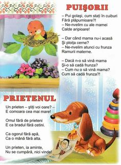 Poezie Activities To Do, Kids Education, Nursery Rhymes, Social Platform, Kindergarten, Parenting, Teaching, School, Romania