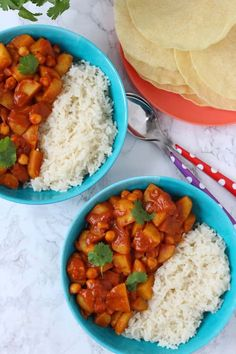 A delicious and nutritious mild vegetarian / vegan curry, suitable for adults and kids and packed with Cornish new potatoes and chickpeas. #curry #potatocurry #chickpeacurry