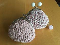 リフ編みでがま口財布を作りました1/2 - YouTube