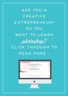 I'm so excited to start teaching this course in September! If you're a creative entrepreneur, blogger, or small business owner, and you've been wanting to create gorgeous graphics for your brand, blog, newsletter, and more - this is the class for you!  Pre-registration pricing ends soon, so if you're on the fence get it now before the price goes up. Click to learn more!!