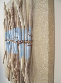 This is a cool wall art piece. Twigs 'n twine on canvas. Love it.