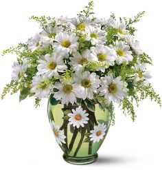 Teleflora's Crazy for Daisies Bouquet.... the vase is a bit much