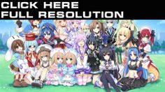 Hyperdimension Neptunia Games Girls