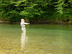 Casting into the Still Waters of the Idrija, in Slovenia