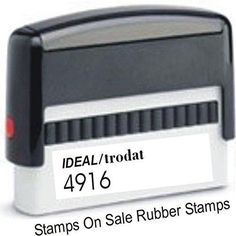 Custom Single Line Stamp - Self Inking - Long Narrow Stamp