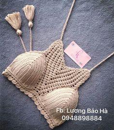 Crochet Bra, Crochet Shirt, Crochet Cross, Crochet Crop Top, Love Crochet, Learn To Crochet, Beautiful Crochet, Crochet Clothes, Crochet Stitches