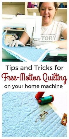 Beginner Free Motion Machine Quilting with Jenny Doan of Missouri Star (Instructional Video)Free motion machine quilting tutorial by Mo Star Quilt Co - awesome!Free motion machine quilting tutorial by Hilary. Machine À Quilter, Machine Quilting Patterns, Quilting Templates, Quilting Tools, Quilting Tutorials, Quilting Ideas, Art Quilting, Machine Quilting Tutorial, Sewing Patterns