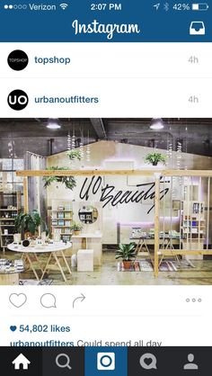Urban outfitters display