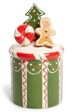 K & K Interiors Christmas Cookie Jar available at #Nordstrom
