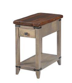 Reclaimed Wood Top Manhattan Small End Table