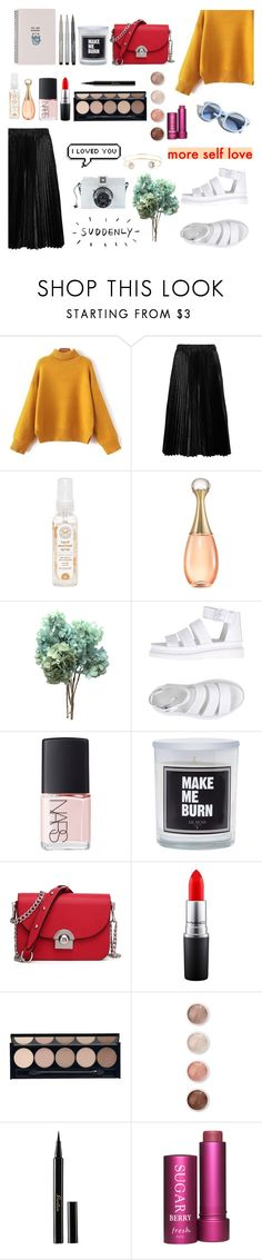 """Not yet"" by soojinchoi ❤ liked on Polyvore featuring Comme des Garçons GIRL, The Honest Company, Dr. Martens, Pinko, NARS Cosmetics, Faber-Castell, MAC Cosmetics, Witchery, Terre Mère and Guerlain"