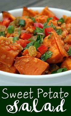 Sweet Potato Salad ~ http://positivemed.com/2012/12/27/sweet-potato-salad/