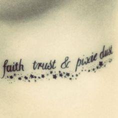 faith, trust and pixie dust .....