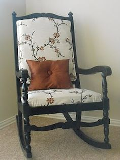 a little of this, a little of that: Retro Rocking Chair Re-Do