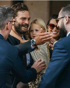 New photos of Jamie with his family at a wedding on August 💕 — Jamie Dornan Kids, Jamie Dornan Daughter, Jaime Dornan, Fifty Shades Movie, Fifty Shades Darker, 50 Shades, Jamie Dornan Wedding, Mr Grey, Sons