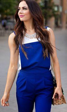 Cute blue jump suit