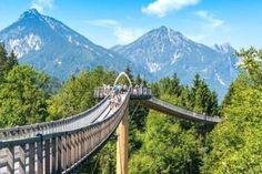 Der Baumkronenweg in Ziegelwies führt von Bayern nach Tirol in Österreich