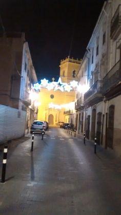 The major street of Castalla on christmas