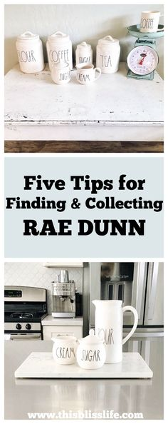 Five Tips for Finding & Collecting Rae Dunn | www.thisblisslife.com