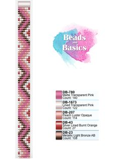 pink miyuki delica beadloom bracelet pattern - patronen voor weefarmbandjes