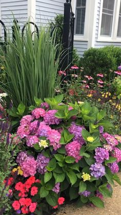 Sidewalk garden #landscapingideas #gardenideas #garden Garden Yard Ideas, Small Yard Flower Garden Ideas, Ideas For Flower Beds, Front Yard Flowers, Front Flower Beds, Flower Bed Designs, Colorful Garden, Beautiful Flowers Garden, Beautiful Gardens