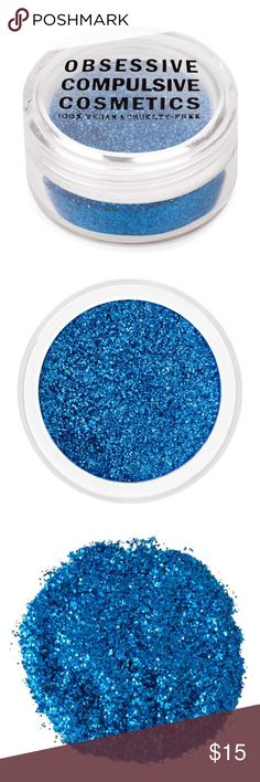 Blue OCC Cosmetic Glitter Bright, Vivid Blue 0.08 OZ  A selection of micronized metallic glitters for face and body. Delight in the smoother, more even finish yielded by micronized particles. This ultrasmall particle glitter comes in a wide array of fashion-forward colors that photograph beautifully. For added longevity, apply over OCC Skin Primer. Use on eyes, face, lips.  Non-smoking home, pet free zone.  New & guaranteed authentic: I am an authorized OCC Pro w receipts.  This color is a…