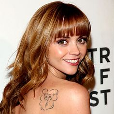 "Of Christina Ricci's eight tattoos, the lion on her right shoulder is most visible. ""It's Aslan, the lion from 'The Lion, the Witch, and the Wardrobe,'"" she has said. ""I struggled through my oppressive teenage years, and when I turned 18, I escaped. Like Aslan, I was finally free.""::: live this story hahaha"
