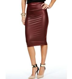 DailyLook: Leatherette Pencil Skirt | stylespiration | Pinterest ...
