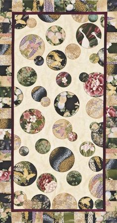 Free Table Runner Patterns | AllPeopleQuilt.com      Love the appliquéd circles!  Different fabric choices for me though.