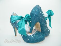 Dark Teal holographic glitter high heels Wedding Bridal Bridesmaid Mothers Day Carnival Ball Parade Pageant Sweet 16 Birthday gift for her Teal Heels, Bling Heels, Glitter High Heels, Bridal Heels, Wedding Heels, Court Heels, Hindu Bride, 16th Birthday Gifts, Bridesmaid Shoes