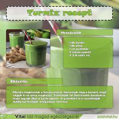Gyömbéres zöld turmix recept #zöldturmix