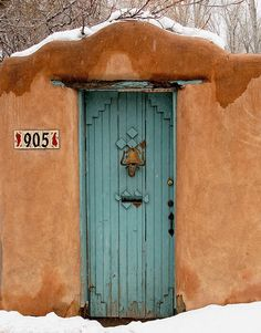 """Sante Fe in winter;   """"see Dave, there's snow!"""""""