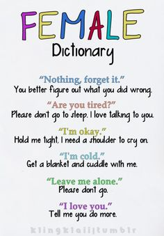 female dictionary.