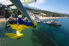 What's your favorite way to see Lake #Tahoe - by air or by boat? http://hangglidingtahoe.com/ http://www.zephyrcove.com/