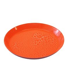 Take a look at this Orange Crackle Dinner Plate - Set of Four by LeadingWare Group on #zulily today!