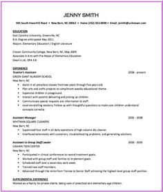 Example Of PreK Teacher Resume  HttpExampleresumecvOrg