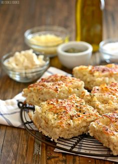 Easy Rosemary Garlic Parmesan Biscuits Recipe - ZipList #Recipe #Food ...