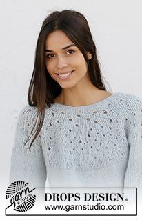 Free knitting patterns and crochet patterns by DROPS Design Summer Knitting, Easy Knitting, Knitting Patterns Free, Knit Patterns, Drops Design, Drops Kid Silk, Knitted Capelet, Summer Wraps, Cloud Dancer