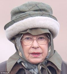 queen elizabeth II - When one's head is cold, it must be warmed in the worst hat possible. Function over fashion.