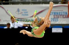 Aleksandra Soldatova (Russia) gets 18.583 points and she wins silver in clubs finals at World Championships 2015