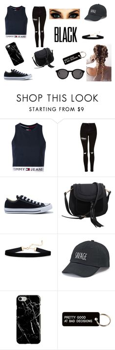 Jeans 4 life by rahi445 on Polyvore featuring Tommy Hilfiger, Topshop, Converse, MKF Collection, SO, Recover, Thierry Lasry and Various Projects
