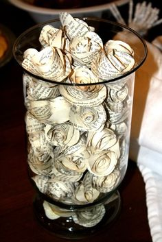 Paper roses for Love story bridal shower. purchased on Etsy